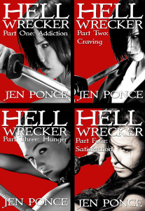 Hell Wrecker Four Covers Jen Ponce author